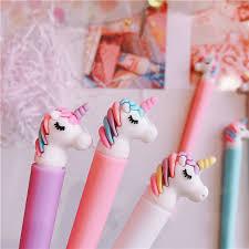 <b>1PC Kawaii Unicorn</b> Velvet Gel Pen Rollerball Pen School Office ...