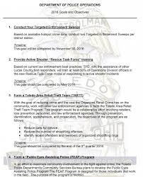 toledo police department goals and objectives goals and objectives