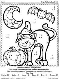 Number worksheets, Simple addition and Color by numbers on PinterestFrightful Facts: Basic Addition Halloween Color By The Code Math Puzzles ~This Unit Is