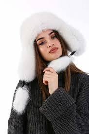 Women's <b>100</b>% <b>Real Fox</b> Fur Hat S-XL Premium Aviator Russian ...