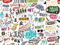 234 лучших изображений доски «Doodles!» | Грифонаж, Надписи ...