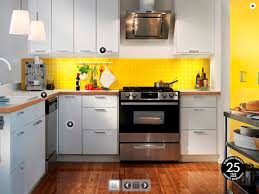 interior impressive color scheme kitchen ideas with beautiful yellow wall and white kitchen cabinet equipped black beautiful modern kitchen lighting pendants yellow