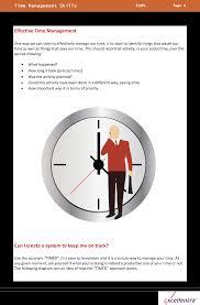 time management skills sample content excellentra time management skills sample content