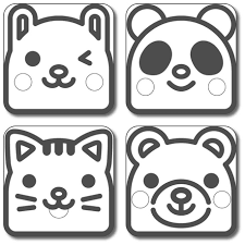 Japanese Tofu Food Stamper Panda <b>Cat Bear Rabbit</b> for Deco Cutter