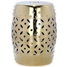 patio stool: safavieh lattice coin gold ceramic patio stool acsd the home depot