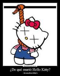 De qué murió Hello Kitty?   Desmotivaciones via Relatably.com