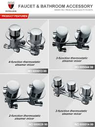 thermostatic brand bathroom: himark brands of thermostatic steamer mixer bathroom fittings price