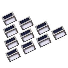 Nateer Solar Lights, Step Lights <b>Outdoor</b>, <b>Stainless</b> Steel <b>Waterproof</b> ...