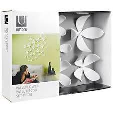 umbra wallflower wall decor white set: buy umbra wallflower wall decor white set of  online at johnlewiscom