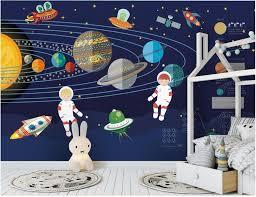 <b>Custom mural 3d photo</b> wallpaper Rocket space astronaut ...