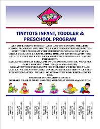 sample daycare flier