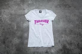 <b>Футболки Thrasher Girls Mag</b> Logo V-Neck T-Shirt Gray