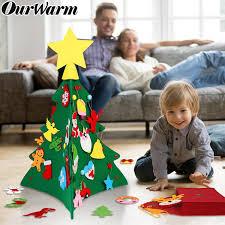 2019 <b>OurWarm DIY</b> Felt <b>Christmas Tree</b> New Year Gifts Kids Toys ...