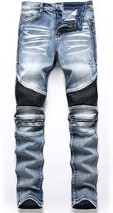 Liuhond Skinny Slim <b>Fashion Men's Ripped</b> Straight Holes Hip Hop ...
