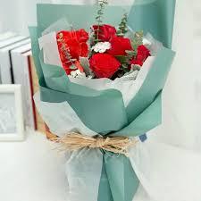 Korean <b>Flower Waterproof</b> Wrapping Paper Packaging Gift ...