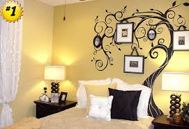 great interior bedroom design with alluring wall decoration again art decor ideas of tree plus alluring home bedroom design ideas black