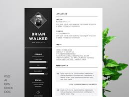 free resume template for word  photoshop  amp  illustrator on behance
