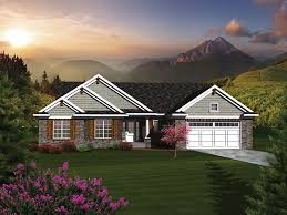 Higgens Traditional Ranch Home Plan D    House Plans and MoreRanch House Plan Front of Home   D    House Plans and More