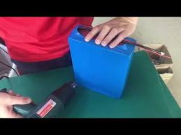 lithium <b>battery</b> pack <b>heat shrink</b> wrap - YouTube