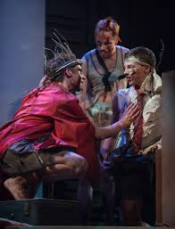chicago theater review lord of the flies steppenwolf jack ty olwin speaks followers henry brendan meyer and johnny