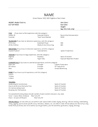 resume sample cover letter resume resume sample acting resume template best business acting resume template