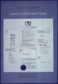 「approving the charter for the United Nations by a vote of 89 to 2.」の画像検索結果