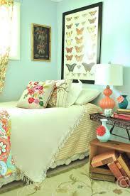 green walls ideas bedroom design soft orange