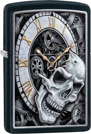 ROZETKA | <b>Зажигалка Zippo</b> 218 <b>Skull Clock</b> Design Черная (Zippo ...