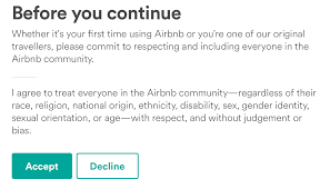 the brand guy if you decline you cannot use or host airbnb wow talk about making a stand and when trump signed his executive order on immigration in