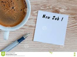 job opportunity concept stock photos image  new job inscription in notepad near morning cup of coffe possibility chance or