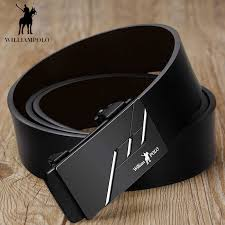 WILLIAMPOLO Luxury Belt <b>Automatic Buckle Male</b> Classic Cowskin ...