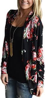 ECOWISH Womens <b>Boho</b> Irregular Long Sleeve Wrap <b>Kimono</b> ...
