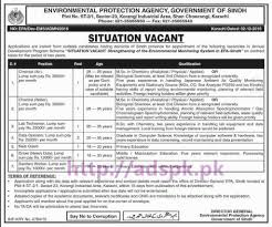 latest govt jobs in lahore karachi islamabad we new career excellent jobs environmental protection agency govt of sindh karachi jobs for chemist