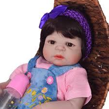 "Bebes reborn girl dolls 22""<b>55cm full body silicone</b> reborn baby ..."