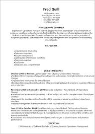resume templates operations manager operation manager resume