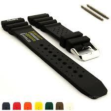<b>Silicone Rubber</b> Waterproof Divers Watch Band Strap PRO <b>18mm</b> ...