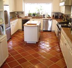 Terracotta Kitchen Floor Tiles Traditional Saltillo Terra Cotta Floor Tile In A Beautiful White