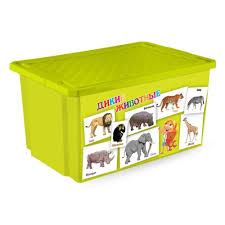 <b>Ящик для</b> хранения <b>Little Angel</b> X-<b>BOX</b> 57л, обучайка животные ...