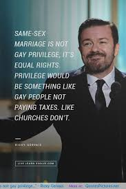 Same-sex marriage is not Gay privilege, it's equal rights - Ricky ...