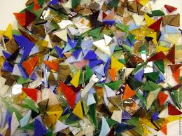 100 гр.!Осколки стекла «Ассорти»<b>Мозаика из стекла</b> ...
