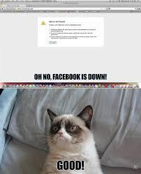 Facebook Is Down Funny Grumpy Cat Pic - Grumpy Cat Meme - See ... via Relatably.com
