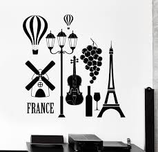 sun wall decal trendy designs:  new fashion wall decal paris france love romantic eiffel tower vinyl decal free shipping