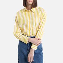 <b>Рубашка</b> в <b>полоску</b> объемного покроя с длинными рукавами <b>La</b> ...