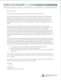 grad class advisory letter from principal sands secondary school you are here