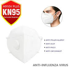 <b>10PCS KN95 Mask</b> with Filter - Mouth Cover PM 2.5 Dust Masks 5 ...