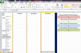 how to make a quarterly debt expense report in excel rainy day quarterly report sheet