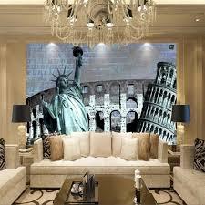 liberty bedroom wall mural: custom photo statue of liberty wallpaper european and american style living room sofa backdrop mural wallpaper