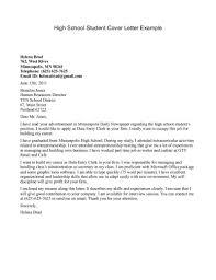 free cover letter samples for highschool students cover letter cover letter college student