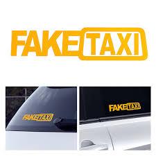 <b>1 Pcs Universal</b> Car Sticker FAKE TAXI JDM Drift Turbo Hoon Race ...