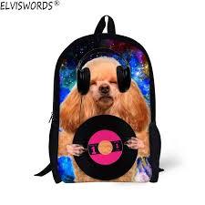 <b>ELVISWORDS</b> Funny 3D Dog <b>School</b> Bag For Teenagers <b>Boys</b> Girls ...